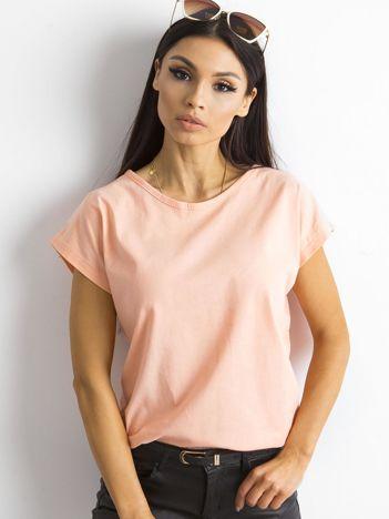 Damski t-shirt brzoskwiniowy