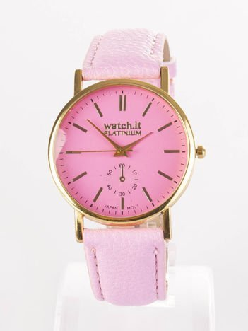 Damski zegarek różowy