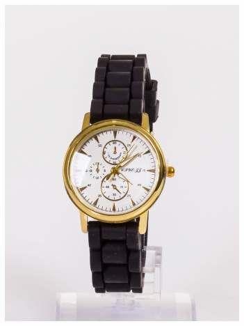 Damski zegarek z ozdobnym chronografem na tarczy
