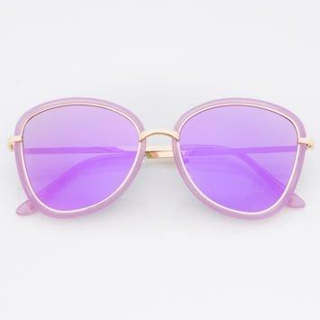 Damskie Okulary przeciwsłoneczne Fioletowe Lustrzanki