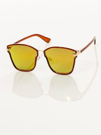 Damskie okulary przeciwsłoneczne lustrzanki w nowoczesnym stylu HIT !