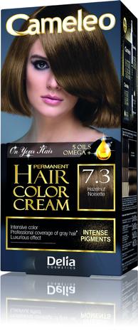 "Delia Cosmetics Cameleo HCC Farba permanentna Omega+ nr 7.3 Hazelnut  1op."""