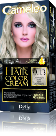 "Delia Cosmetics Cameleo HCC Farba permanentna Omega+ nr 9.13 Champagne Blond  1op."""