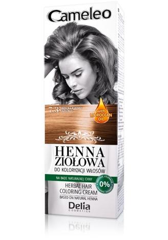 Delia Cosmetics Cameleo Henna Ziołowa nr 7.3 orzech laskowy 75g