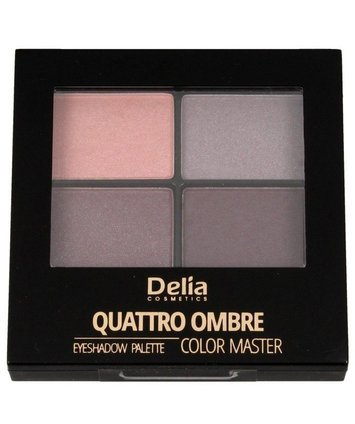 Delia Cosmetics Color Master Cienie do powiek Quattro Ombre nr 402 Tasty Plum
