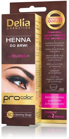 Delia Cosmetics Henna do brwi żelowa 3.0 ciemny brąz