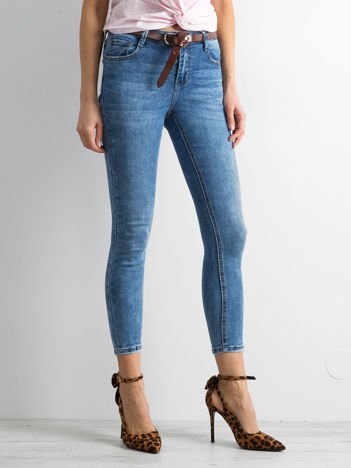 Denimowe spodnie skinny niebieskie
