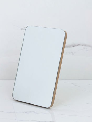 Duże prostokątne lustro beżowe