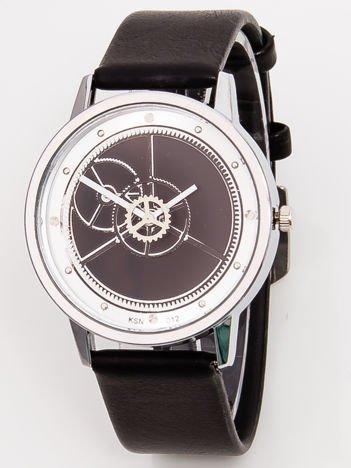 Duży Czarny Zegarek RETRO