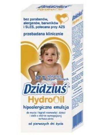 Dzidziuś Emulsja do mycia i kąpieli dzieci o niemowląt natłuszczająca Hydro Oil 300 ml