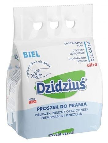 Dzidziuś Proszek do prania pieluszek, bielizny, odzieży niemowlęcej i dziecięcej Biel 3 kg