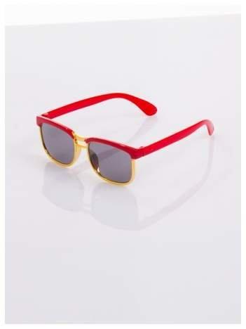 Dziecięce czerwono-złote okulary przeciwsłoneczne z filtrami
