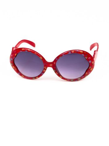 EMOJI Dziecięce przeciwsłoneczne okulary z filtrami EMOTICONS czerwone