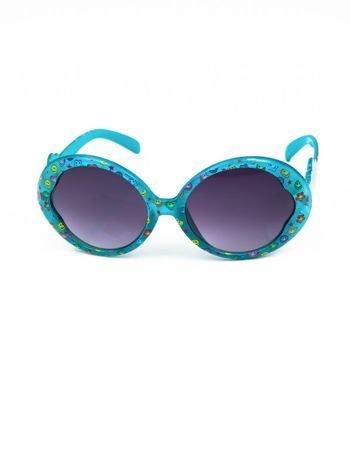 EMOJI Dziecięce przeciwsłoneczne okulary z filtrami EMOTICONS niebieskie
