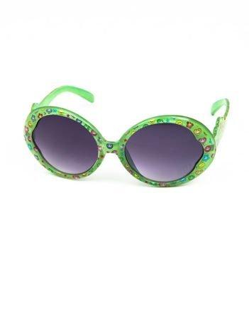 EMOJI Dziecięce przeciwsłoneczne okulary z filtrami EMOTICONS zielone