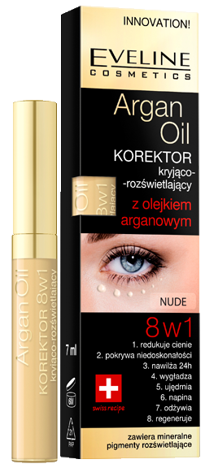 EVELINE KOREKTOR ARGAN OIL 8W1 NUDE 7ML