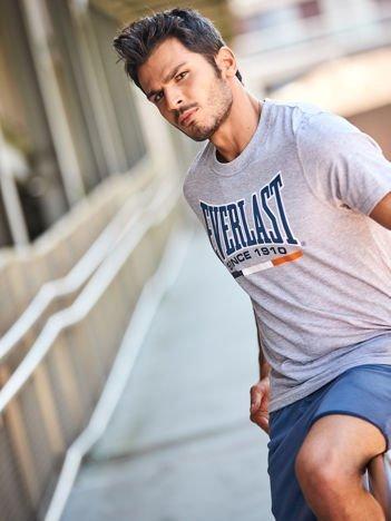 EVERLAST Jasnoszary t-shirt męski z nadrukiem logo