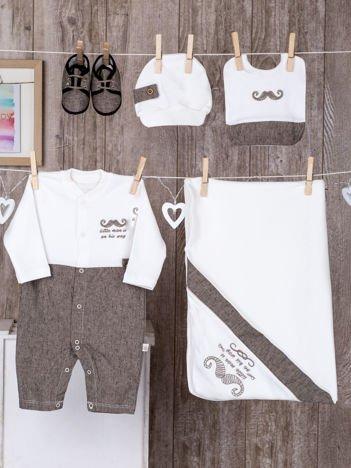 Ecru 5-elementowa wyprawka niemowlęca dla chłopczyka