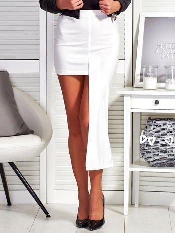 Ecru asymetryczna spódnica