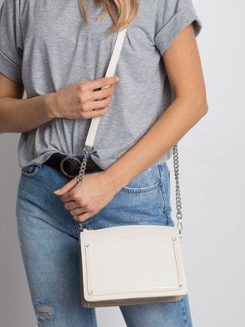 Ecru-beżowa elegancka torebka