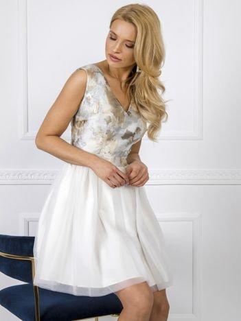 Ecru-beżowa sukienka Bella