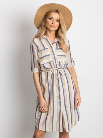 b394d9e0ad Ecru-beżowa sukienka Versatile