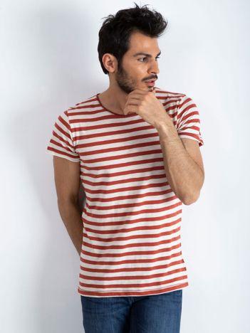 Ecru-ceglasta koszulka męska Foreign
