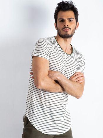 Ecru-khaki t-shirt męski Rockstar