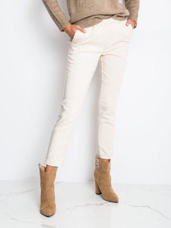 Ecru spodnie Control