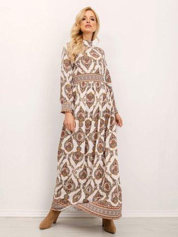 Ecru sukienka BSL