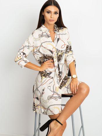 Ecru sukienka Gracia