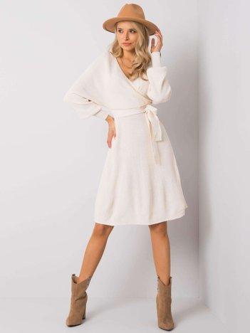 Ecru sukienka Leanor RUE PARIS