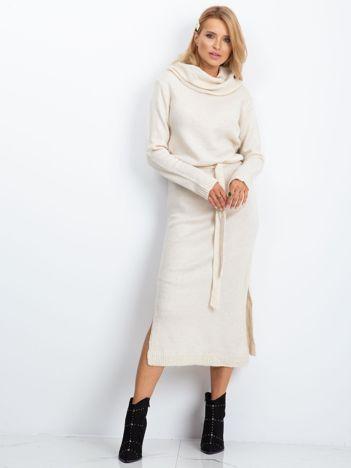 Ecru sukienka Peace