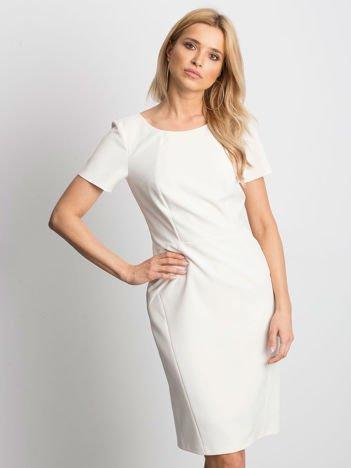 Ecru sukienka Symmetry