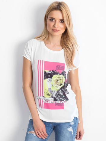 Ecru t-shirt Roses