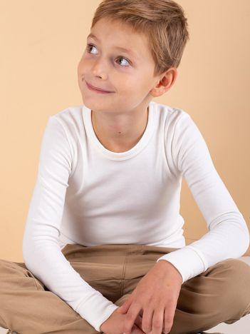 Ecru termoaktywna bluzka chłopięca