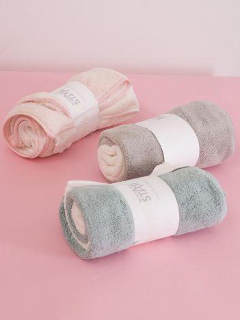 Ecru-zielony komplet ręczników frotte do rąk 2 sztuki