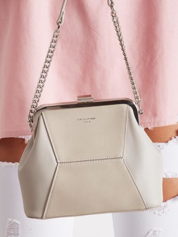 Elegancka jasnoszara torebka