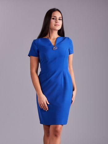 Elegancka sukienka damska kobaltowa