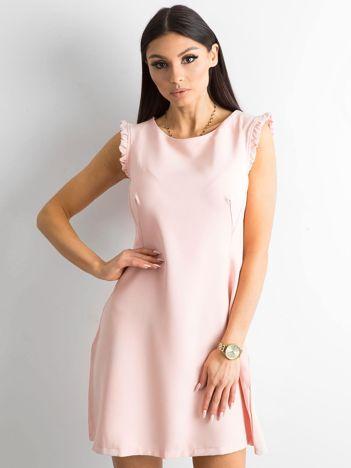 Elegancka sukienka jasnoróżowa
