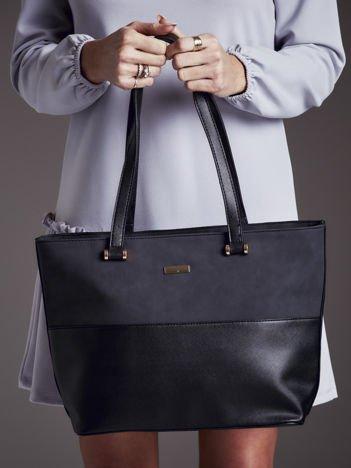 Elegancka torba shopper czarna