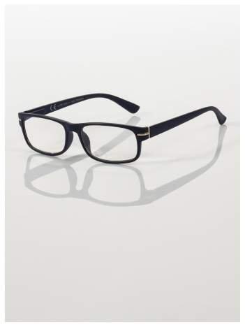 Eleganckie czarne matowe korekcyjne okulary do czytania +2.0 D  z sytemem FLEX na zausznikach