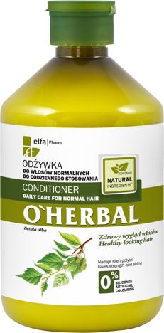 Elfa Pharm O'Herbal Odżywka do włosów normalnych z ekstraktem z brzozy 500 ml