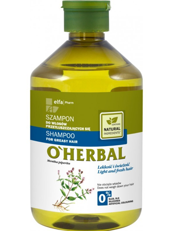 Elfa Pharm O'Herbal Szampon do włosów przetłuszczających z miętą 500 ml