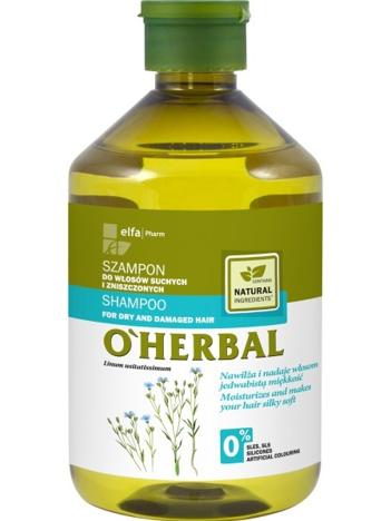 Elfa Pharm O'Herbal Szampon do włosów suchych i zniszczonych z lnem 500 ml