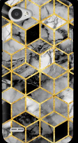 Etui do telefonu LG Q6 Geometric Marble