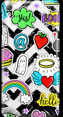 Etui do telefonu Sony Xperia E5 Stickers
