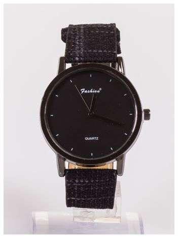 FASHION nowoczesny czarny zegarek
