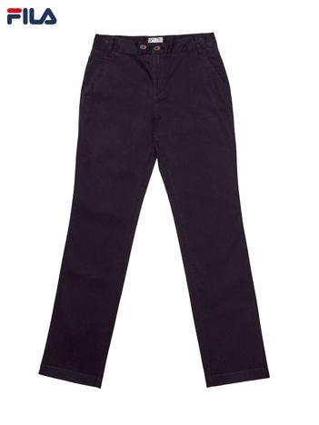 FILA Czarne materiałowe spodnie damskie