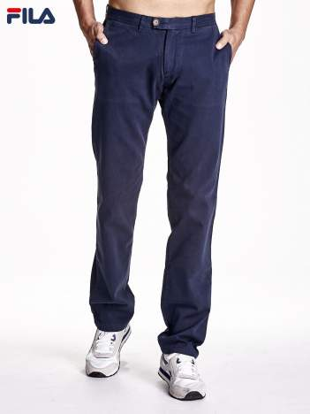 FILA Granatowe spodnie męskie regular fit